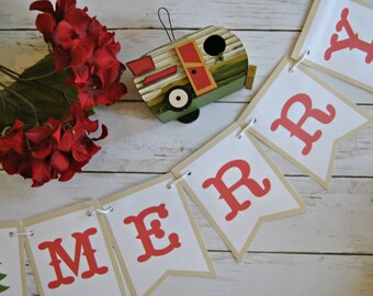 PDF:  BE MERRY Holiday Christmas Bunting, Be Merry Banner, Christmas Home Decor, Holiday Home Decor, Christmas Photo Prop - Instant Download