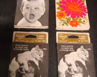 Vintage 1960's BRIDGE TALLY CARDS 4 Packages