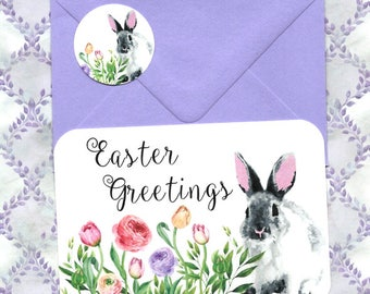 Easter, Rabbit Cards, Easter Greeting, Happy Easter, Greeting Cards, Stickers
