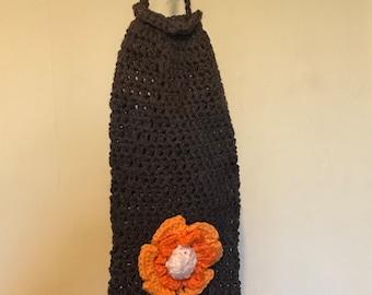 Grocery bag holder in crochet