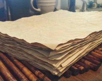 30-120 sheets of coffee dyed papers for crafts/hand dyed papers/coffee stained papers/papers for journals/collage papers/scrapbook papers