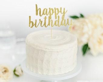 Happy Birthday Cake Topper - Birthday Party Decorations - Cake Toppers - Birthday Cake Toppers - Birthday Party Decor - Happy Birthday