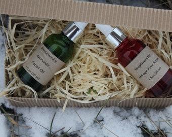 Free shipping face serums set  Ayurvedic face oil Anti age face serum Natural facial oils Vegan face care  Organic face serum Gift  for her