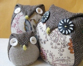 Owls family - Instant dowload - 3 sized owls - Bonus feature-