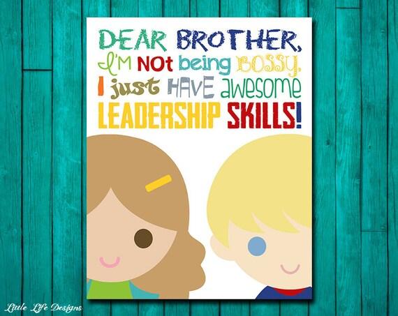 Brother and Sister Wall Art. Kids Wall Art. Kids Decor.