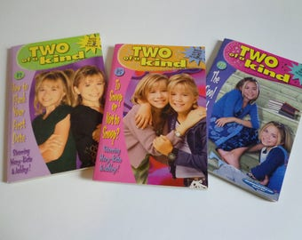 Mary Kate & Ashley Two of a Kind Books Lot of 3 90s Y2k Olsen Twins Books Collectibles