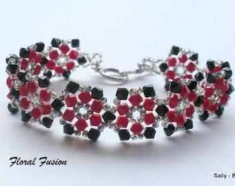 Swarovski Elements Bracelet, Red and Black Crystal Bracelet