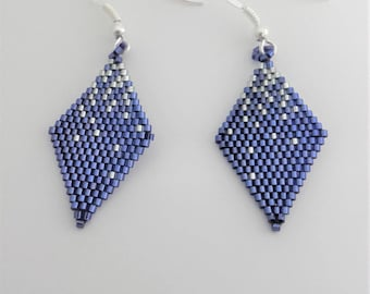 Earrings blue beads and Silver 925