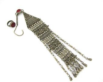 """Rare exquisite antique Yemeni Jewish """"Mashregi"""" pendant & ring  (#1988)"""