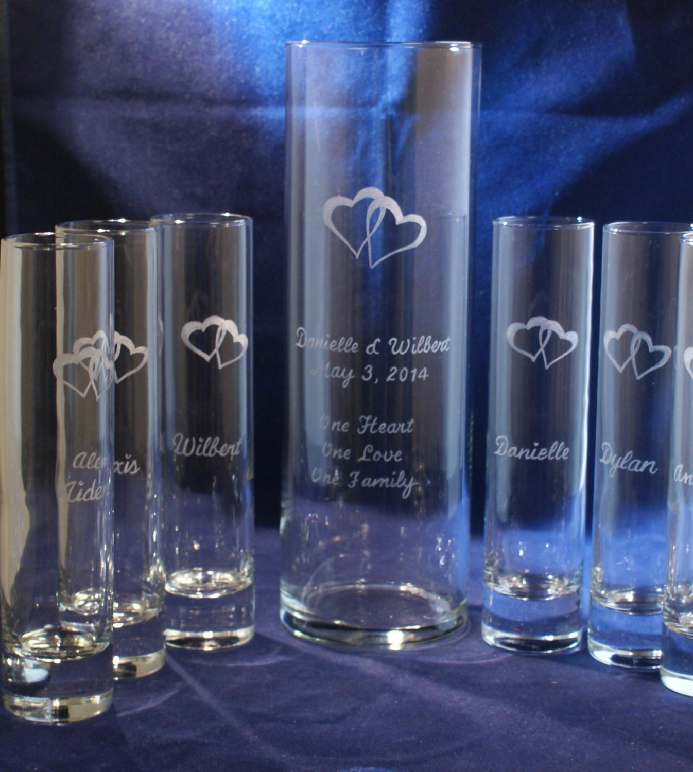 6 piece sand ceremony set with 10 x 3 main vase engraved zoom reviewsmspy