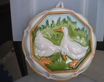 large  ceramic duck decor wall hanging