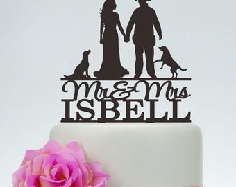 Wedding Cake Topper,Mr and Mrs Cake Topper With Surname,Fireman wedding,Custom Cake Topper,Personalized Topper,Firefighter Cake Topper C110
