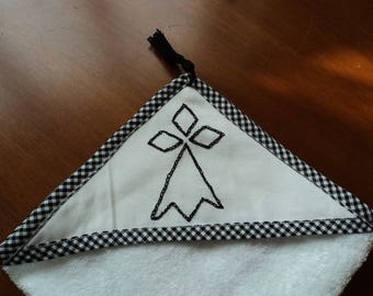 Hand towel or mini white cotton towel