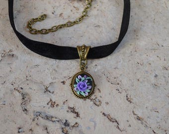 purple choker friend necklace gifts for girlfriend everyday necklace romantic gift women jewelry necklace choker gift for women pendant gift