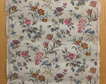Beautiful 19th C. French Zuber Botanical Floral Wallpaper (9332 )