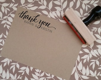 Hand-Lettered Custom Thank You Stamp