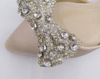 Rhinestone Bridal applique Crystal Applique, Rhinestone Applique, Wedding Applique, Bridal Applique, Applique, Beaded Rhinestones