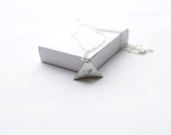 Legend of Zelda Triforce Necklace! Sterling silver chain
