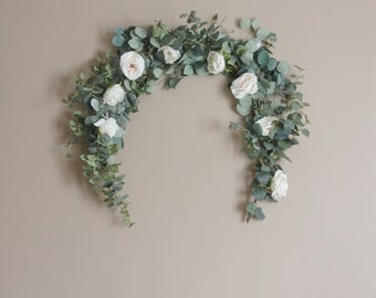 Eucalyptus Garland, Wedding Garland, Wedding Backdrop, Eucalyptus, Silk Flower Garland, Wedding Arch, Wedding Decor, Flower Backdrop, Boho
