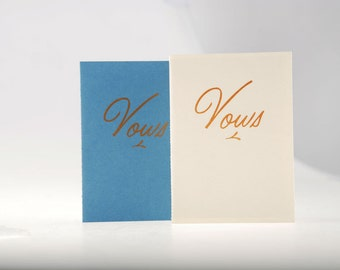Vows Books - Set of 2 / Books for the Bride and Groom / Books for the Groom and Groom / Books for the Bride and Bride / Custom Vows Books