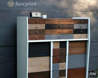 Mid Century Modern Patchwork Dresser