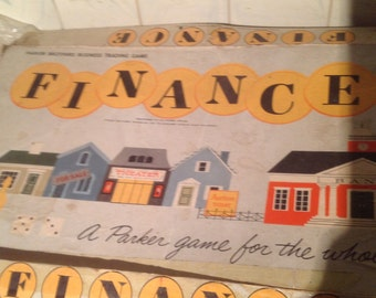 """1958 """"Finance"""" Game by Parker Brothers"""