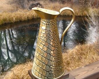 Vintage Brass Pitcher, Vase by Joseph Sankey & Sons, English, Early 20th Century, Vintage Metalware