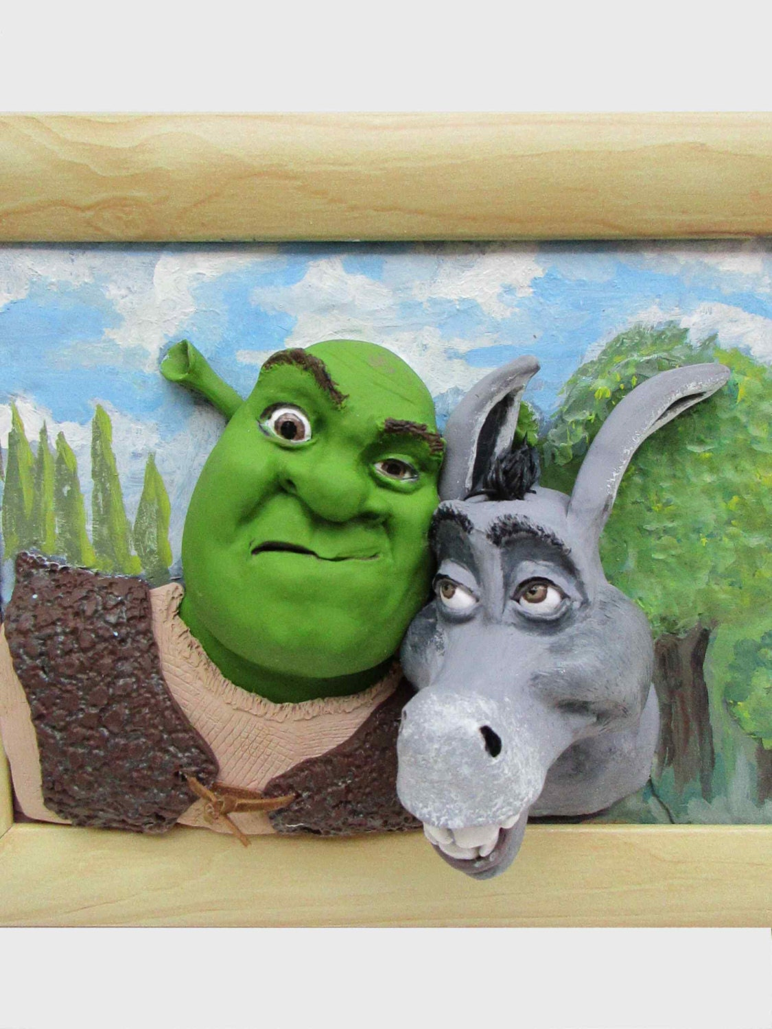 Shrek And Donkey Funny 3d Wall Art Gift For Teen New Room
