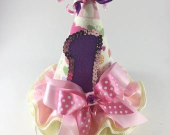 1st Birthday Hat. Princess Birthday. Girls Birthday Hat. Smash Cake Session.