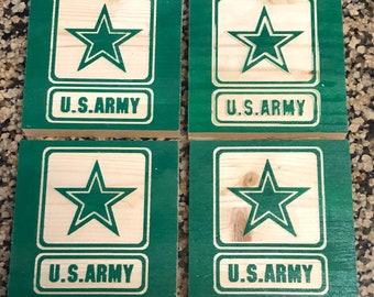 US Army drink coasters