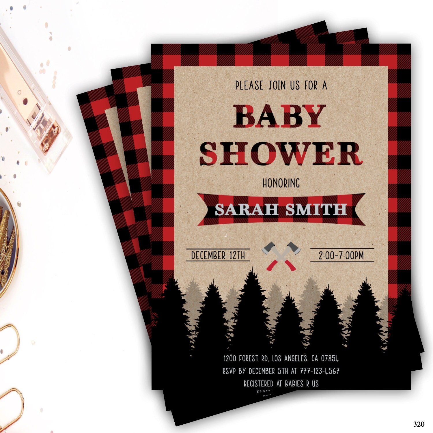 lumberjack baby shower invitation lumberjack boy baby shower