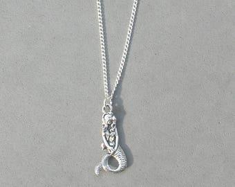Antique Silver Mermaid Necklace