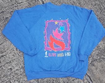 On SALE 60% Off - 1980s Rare Vintage Olympics United States Training Centre Athletics Sweatshirt - 80s Clothing - MV0362 2XUaxo