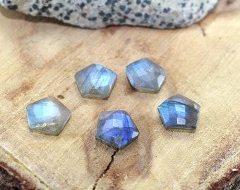 Labradorite Gemstone Hexagon Shape Briolette Cut 12 mm Loose Gemstone For Jewellery minimum Order 10 piece
