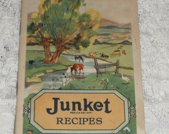 Junket Recipes Delicious Desserts Vintage Recipe Booklet