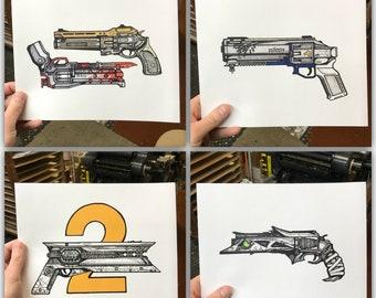 Hand Cannon Bundle (Prints)