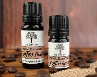 Organic Coffee Bean Essential Oil • Arabica  • Therapeutic Grade • Pure • Uncut • With Dropper Caps •