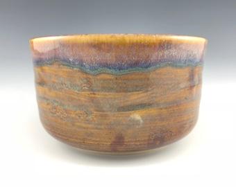Handmade stoneware tea bowl, matcha chawan