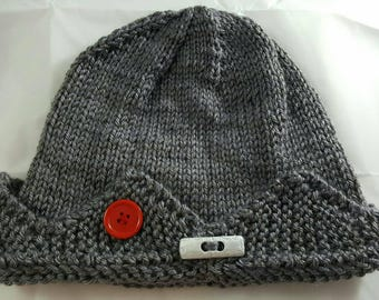 Jughead Hat, Whoopee Cap. Jughead beanie. Hand knitted and Made to Order.