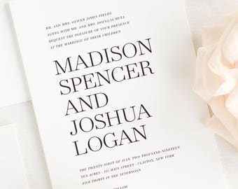 Madison Wedding Invitation - Deposit