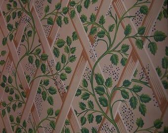 Antique Trellis arbor with vines antique wallpaper 1940-1950 Katzenbach & Warren