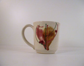 Large Mug Studio Pottery by Linda Hamm, 1980's Vintage Pottery