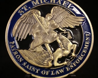 St. Michael Patron Saint of Police Officers Medal - Protection