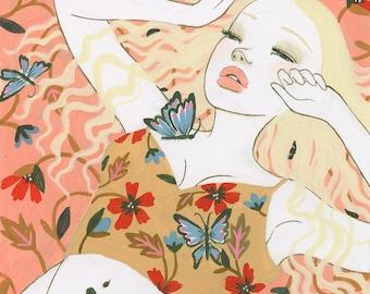 Butterflies painting (art print)