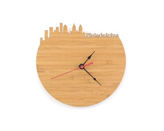 Philadelphia Modern Clock - City Skyline Wall Clock - Pennsylvania