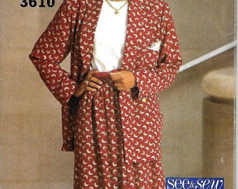 Butterick See & Sew 3610 Misses Double-Breasted Jacket, Skirt And Top Pattern, 6-14, UNCUT