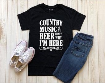 Country Music And Beer, Country Concert Shirts, Country Concert, Country Shirts