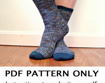 Knitting Pattern - Sock Knitting Pattern - Toe Up Socks Knitting Pattern - the CHAPPY Socks (Adult small, medium, & large sizes)