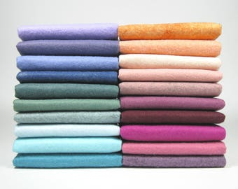 "20 Piece Variety Pack of Wool Blend Felt Sheets 22.8cm x 30.4cm (9"" x 12"")"