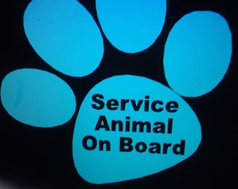 RED WHITE BLUE Service Animal Decal for Auto - Service Animal Window Decal - Window Decal - Service Animal  Auto Window Decal Service Animal